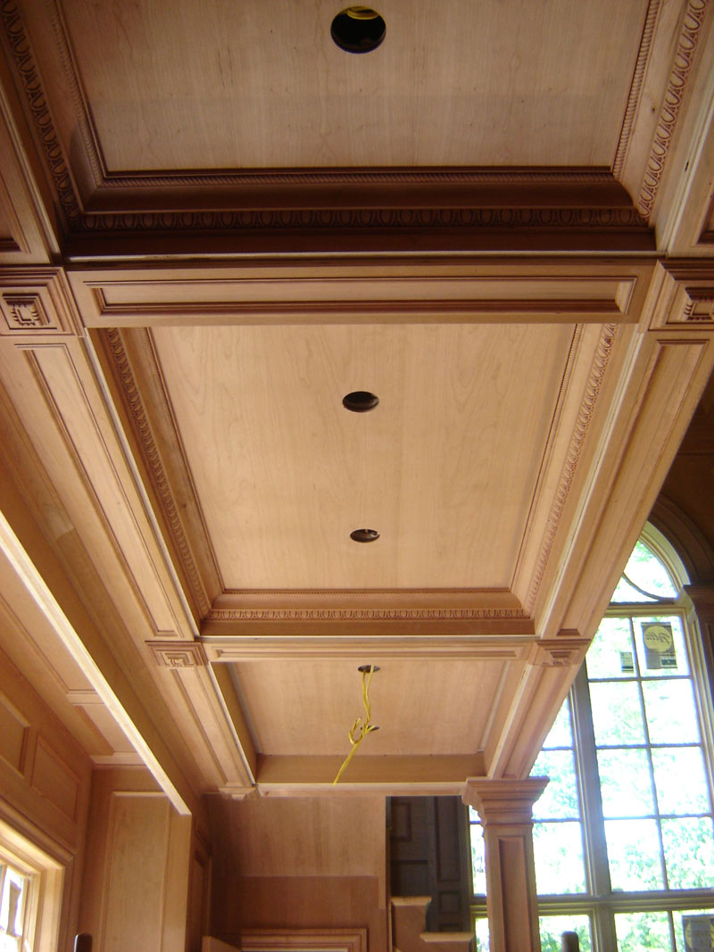 Custom cauffered coffered ceilings box beams crown for Box beam ceiling